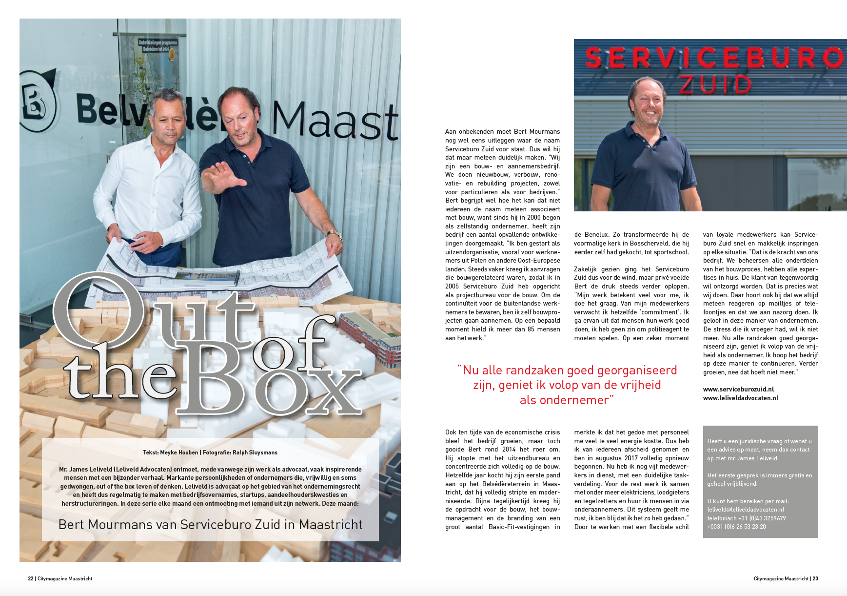 Out of the Box - Bert Mourmans - Serviceburo Zuid