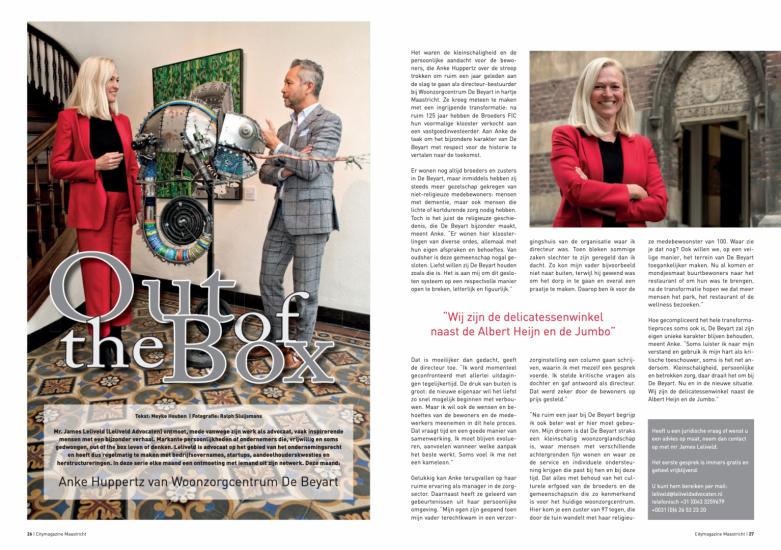 Anke Huppertz, Woonzorgcentrum De Beyart | Out fo the Box | James Leliveld